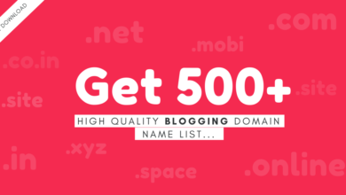 Blogging Domain Name Ideas