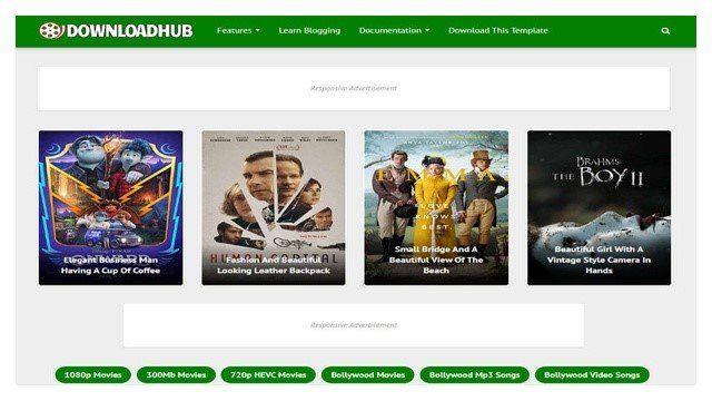 Download Hub Blogger Template Free Download