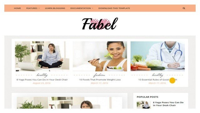 Fabel Blogger Template Free Download