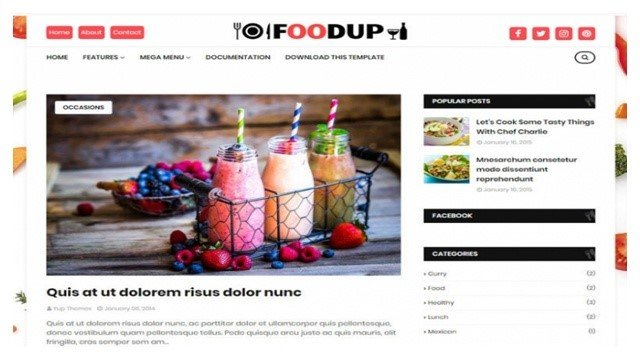 FoodUp Blogger Template Free Download