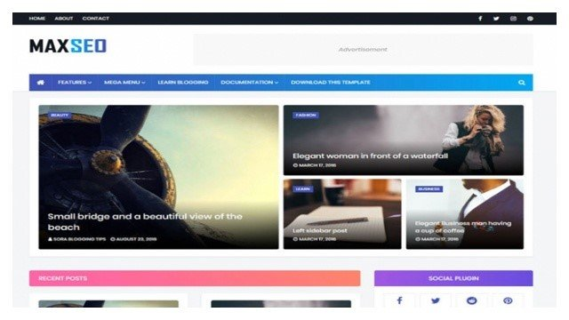 MaxSeo Blogger Template Free Download