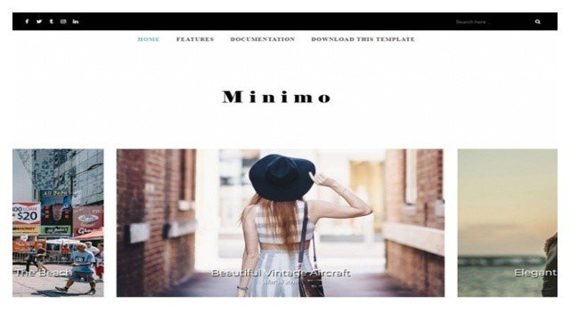 Minimo Blogger Template Free Download