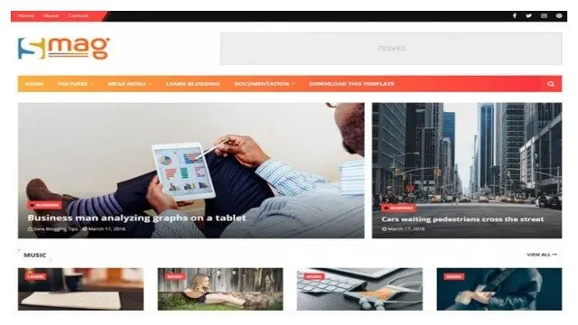 Smag Blogger Template Free Download