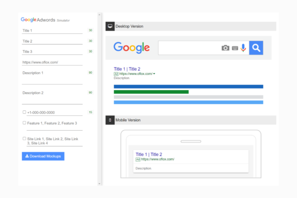 Google Adwords Preview Tool