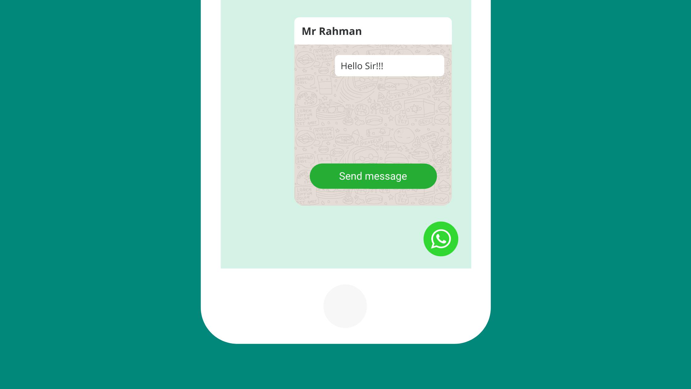 WhatsApp Button HTML Code